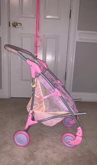 Baby doll contractable stroller