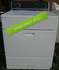 white and black front-load clothes dryer