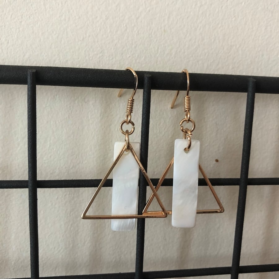 Triangle graphic earring