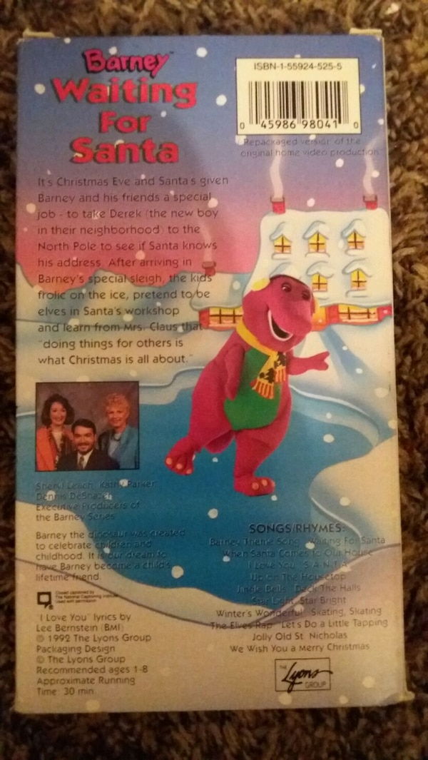 Used BARNEY: Waiting For Santa (VHS) for sale in Lewisville - letgo