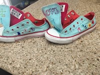 Youth size 13 sneakers embroidered