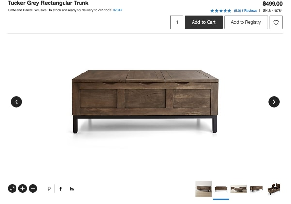 Used Crate Barrel Coffee Table For Sale In Hoboken Letgo