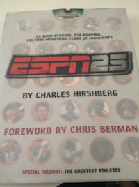 ESPN25 -- 25 Mind-Bending, Eye-Popping, Culture-Morphing Years of Highlights !!!  First time on DVD inside unopened/new 30+ Classic Sportscenter Commercials . Book also includes lists of the best and worst of sports quotes, trades, draft picks, nicknames, Schaumburg, 60193