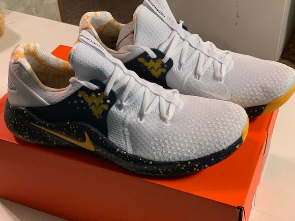 877d5d7f43bb Used Nike FREE TR 8 WVU Editions men s size 13 brand new in box ...