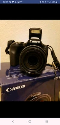 black Canon DSLR camera with bag Joint Base Lewis-McChord, 98433