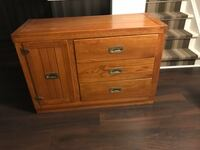 Solid wood bed hutch and drawer WOODBRIDGE