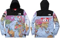Supreme X North Face Map Hoodie $750 OBO