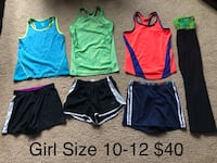 Girl size 10/12 athletic clothes for $40