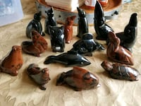 Assortment of Black & Brown Onyx Stone Mexican Fig