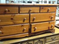 Brown wooden drawer dresser Rockville, 20850