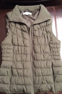 Quilted vest, khaki green