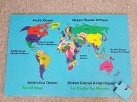 Brand New - World Map Puzzle Mat Hamilton