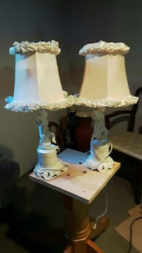 Vintage white angel table lamps  610 km