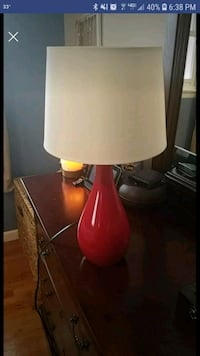 red and white table lamp Reisterstown, 21136