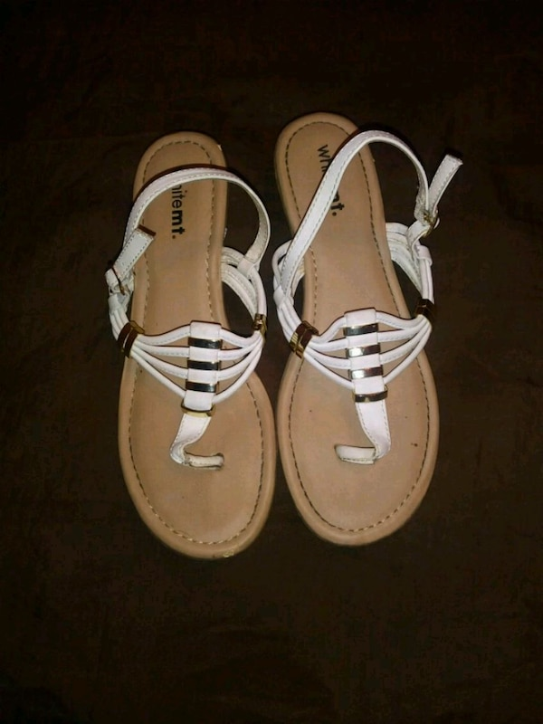 37e3edc2db2 Used pair of white leather open toe sandals for sale in Columbia - letgo