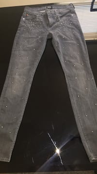 Dark gray skinny jeans, medium size Hammond