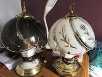 two black and white table lamps Salaberry-de-Valleyfield, J6S 6A8