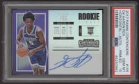 2017-18 Panini Contenders De'Aaron Fox Premium Ticket RC Rookie Auto #105 PSA 10 Basketball Sports Cards