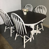Completely refinished oak table with chairs and 2 leafs for extention  Palos Hills, 60465