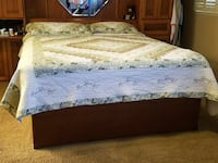 Platform bed and headboard cal king.