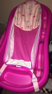 baby's pink bathtub with pink-and-white bather Ocala, 34480