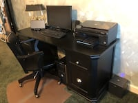 Black 4 Drawer Desk and Chair Hickory, 28601