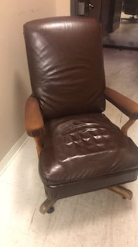 brown leather padded sofa chair 杰克逊, 39201