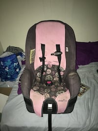 baby's pink and black Evenflo car seat carrier Utica, 13502