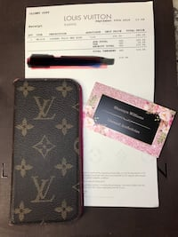 black and brown Louis Vuitton leather wallet Fort Worth, 76107