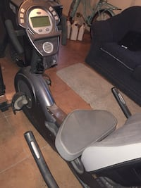 black and gray recumbent stationary bike Bakersfield, 93307