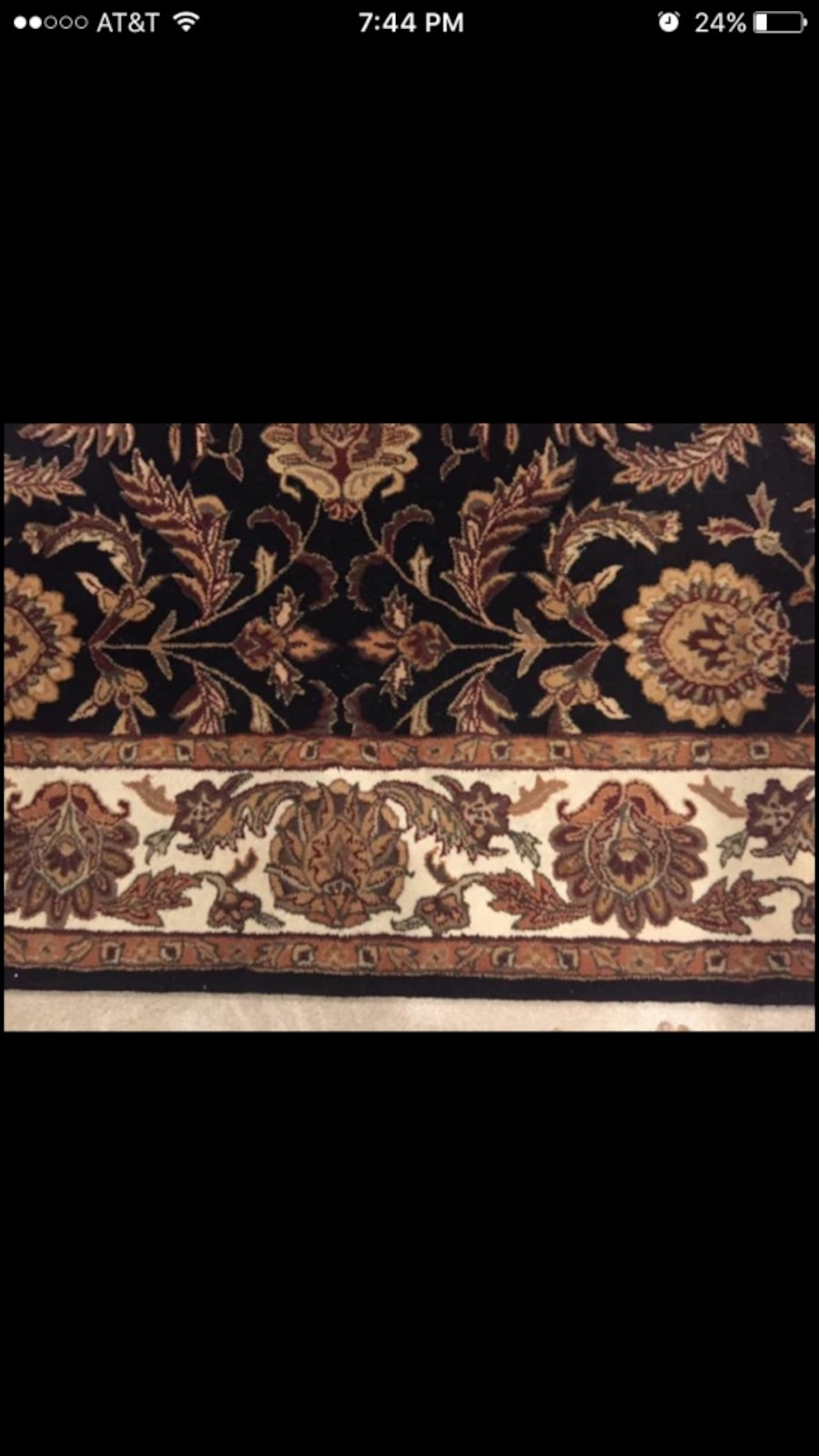 Black Brown And White Floral Area Rug In Marietta Letgo