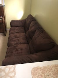 Couch and love seat brown fabric asking$50 Edmonton, T5Z
