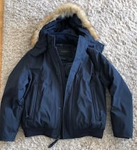 Andrew Marc Parka Navy With Fur Hood Yonkers, 10701