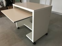 white wooden single pedestal desk Port Coquitlam, V3E 3G7