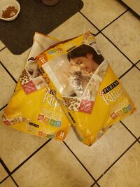 Two 2 pound bags of Purina Kitten Chow