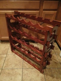 brown wooden wine bottle rack Gilbert, 85234