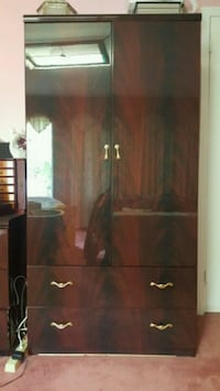 brown wooden wardrobe with mirror Mississauga, L5R 3A1