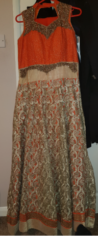 New orange and gold dress Leicester