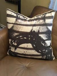 Black and Beige Throw Pillow