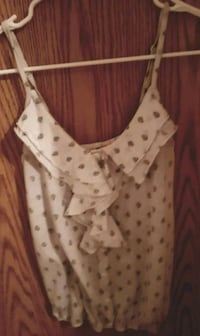 white and black polka dot tank top Winnipeg, R3G 3P9