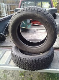 2 studded snow tires by firestone