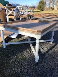 brown and white wooden square rolling table Fairfax, 22030