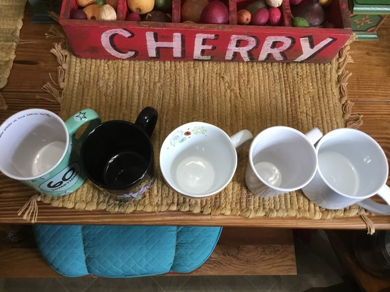 ASSORTED MUGS ~ DIFFERENT WEIGHT AND COLORS a4bc0917-57be-4e5f-a1eb-ebad882e9339