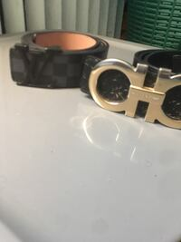 Louis Vuitton (colt blue/black belt) W/ Salvatore Ferragamo (black/gold) Philadelphia, 19140