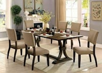 7pc wooden table