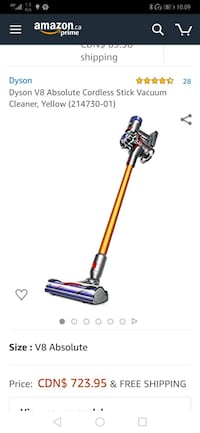 New **Dyson V8 absolute never opened