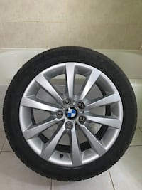 "ORIGINAL 18"" BMW RIMS WITH TPMS SENSORS AND SUMMER TIRES"
