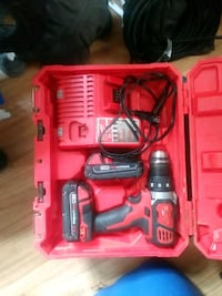 red and black Milwaukee cordless power drill with case Kitchener, N2H 4T6
