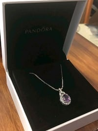 White gold necklace with diamonds and purple amethyst stone Alexandria, 22304