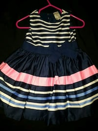 black and white stripe dress Toronto, M9V 3J4